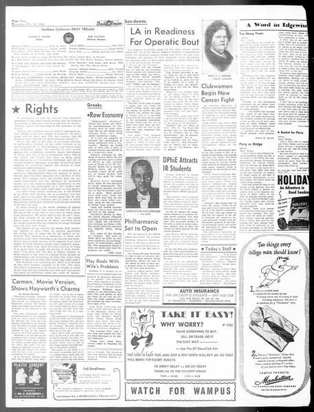 Daily Trojan, Vol. 40, No. 24, October 14, 1948