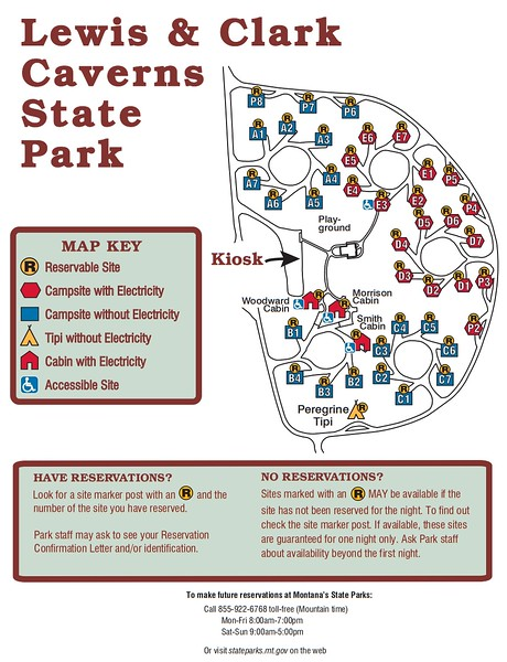 Lewis and Clark Caverns State Park (Campground Map)