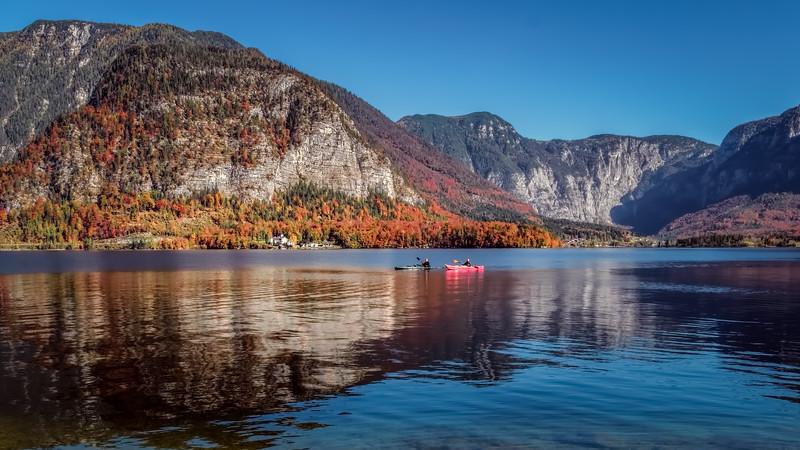 Kayaking Hallstatt Lake