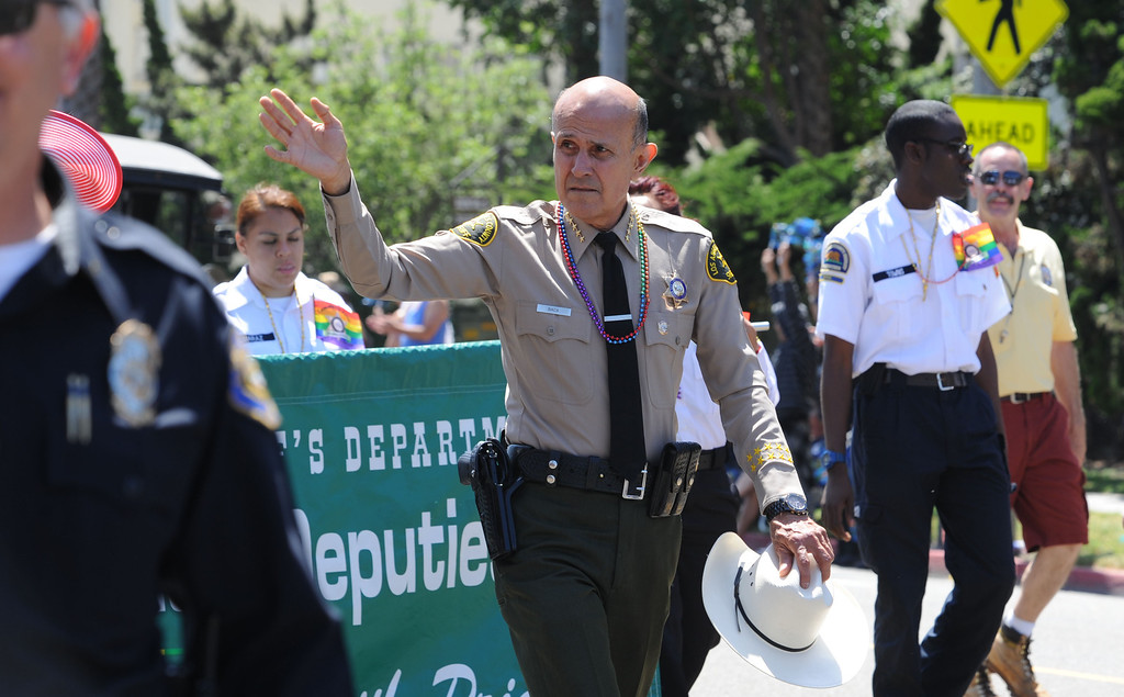 . Long Beach, Calif., -- 05-19-13- Sheriff Lee Baca at the 30th Annual Long Beach Gay and Lesbian Pride Parade along Ocean Boulevard Sunday.    Stephen Carr/  Los Angeles Newspaper Group
