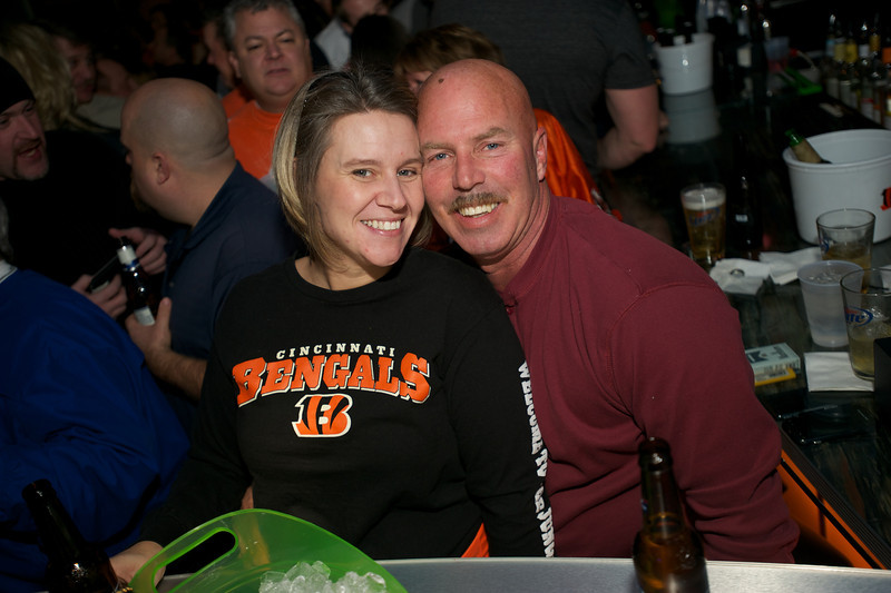 Jennifer Riley and Al Scuziano of NKY at Jerzees for the Bengals game Saturday