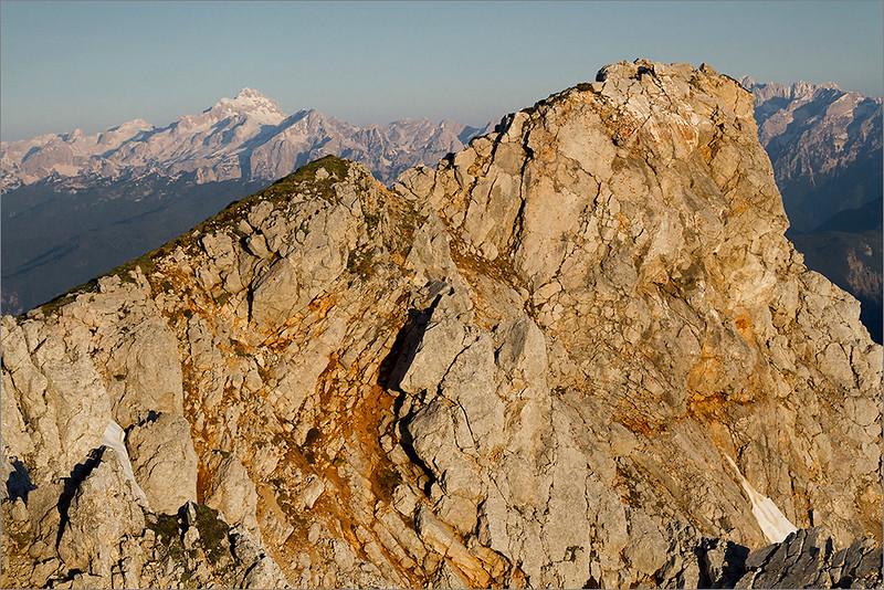 Mt. Stol summit and Triglav in behind