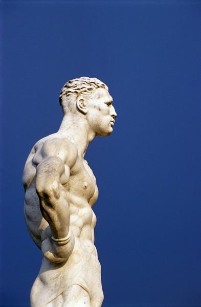 Athlete Statue at Foro Italico (Stadio dei Marmi) in Rome, Italy