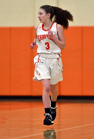 12/26/2019 Mike Orazzi | StaffrTerryville High School's Alice Benson (3) during Thursday's girls basketball game with Northwestern in Terryville. r