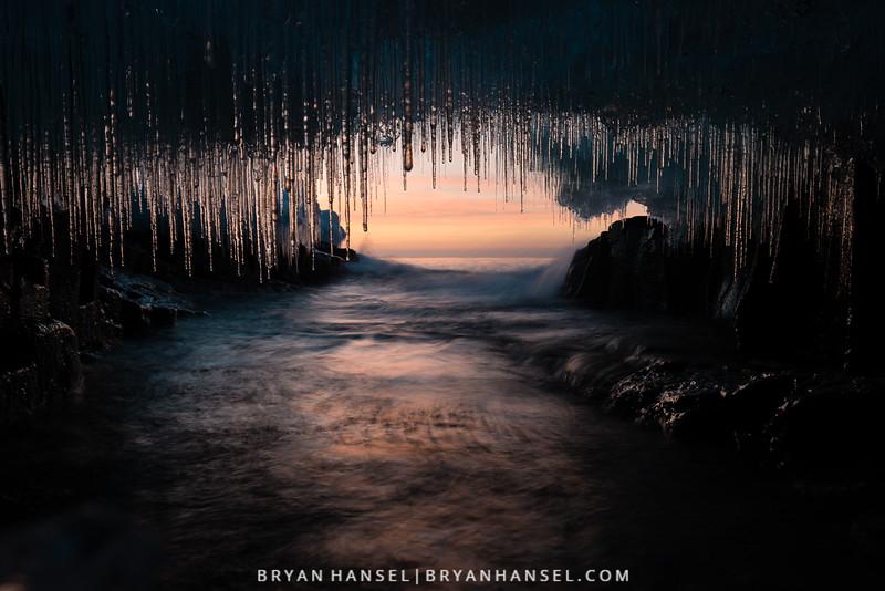 Ice Cave at Sunrise