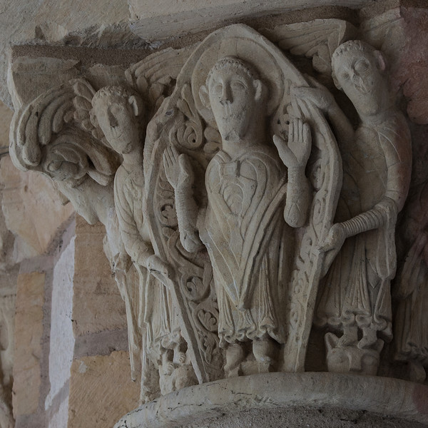 Saint-Benoit-sur-Loire Abbey Narthex Capital, The Ascension of Christ