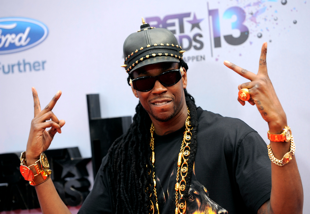. 2 Chainz arrives at the BET Awards at the Nokia Theatre on Sunday, June 30, 2013, in Los Angeles. (Photo by Chris Pizzello/Invision/AP)