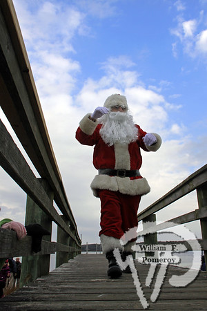 ORLEANS YACHT CLUB — santa by boat arrival . . . upon town cove — Orleans, MA 11 . 27 - 2010