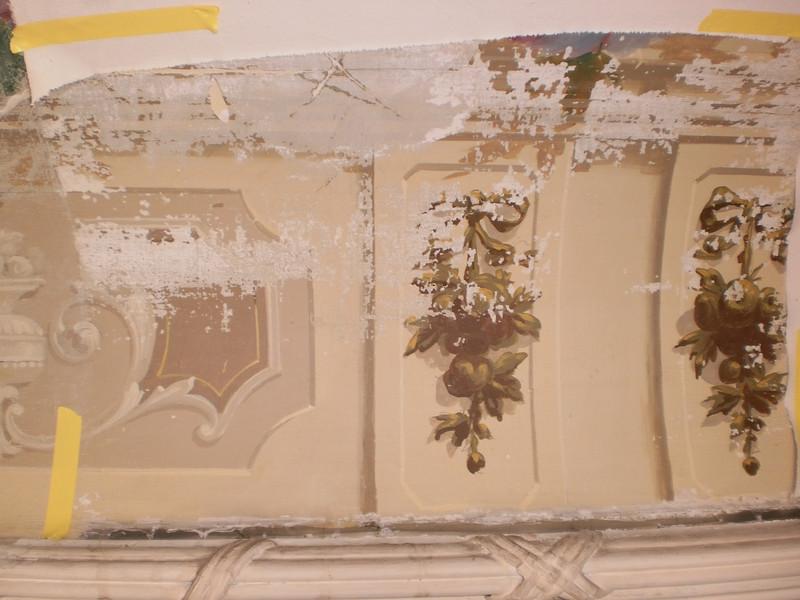Decke Ecke S, Ablösen Calicot Nr. 9 PICT0061