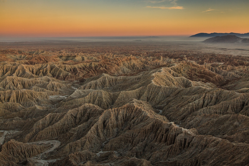 Anza Borrego Badlands at sunrise