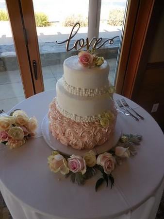 Cake flowers $25-toss bouquet $39