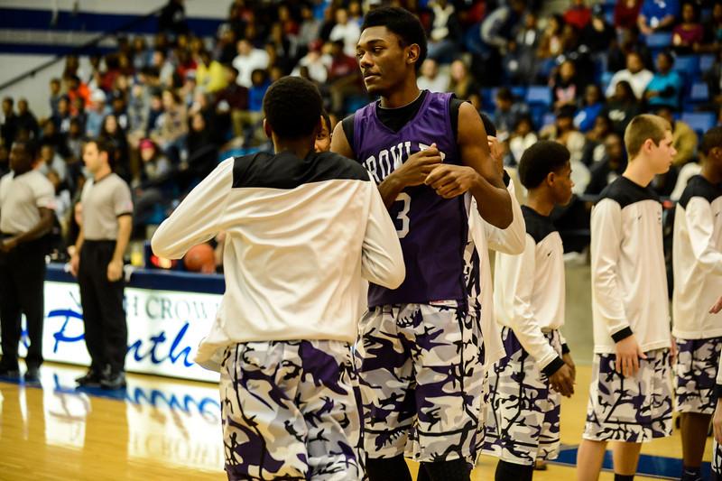 Basketball Varsity vs  Crowley 12-11-13-18