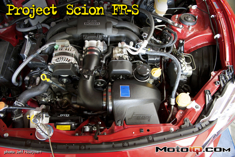 MotoIQ Project Scion FR-S, GReddy intake, air intake