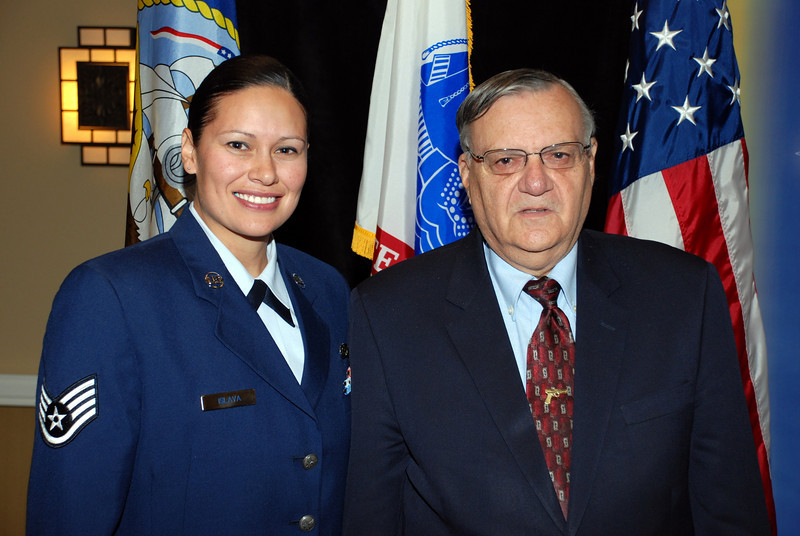 Cindy Isiava and Sheriff Joe
