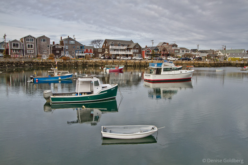 boats in Rockport harbor