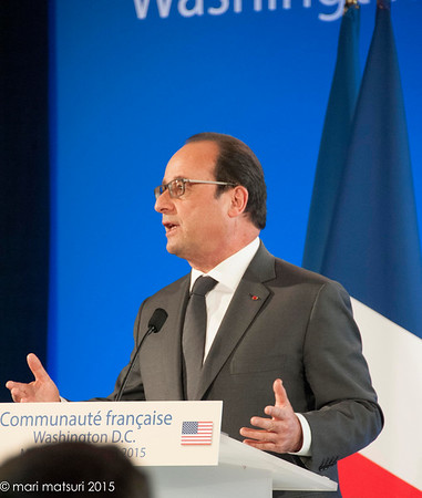 President Hollande visits DC after Paris attacks, on Nov.24, 2015