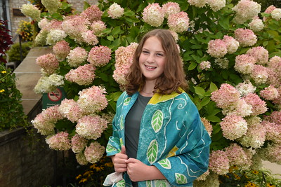 Karen pre-bat mitzvah portraits with tallit