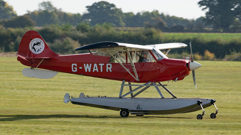 Shuttleworth, Aircraft-> Christen-> A-1 Husky-> G-WATR, Old Warden-> Race Day 2018, Old Warden-> Arrival - 07/10/2018@10:25