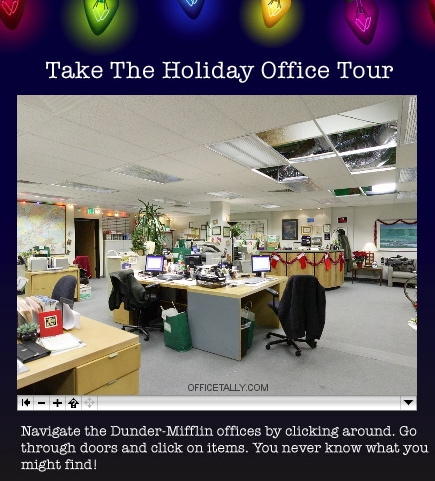 the office holiday tour