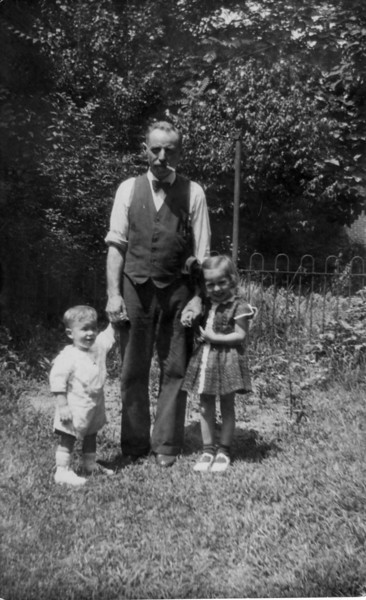 Great Uncle Rudolf and his grandkids.