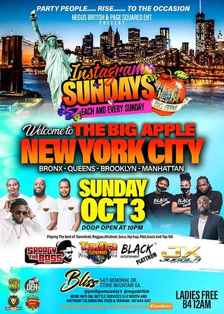 INSTAGRAM SUNDAYS PRESENTS WELCOME TO NEW YORK