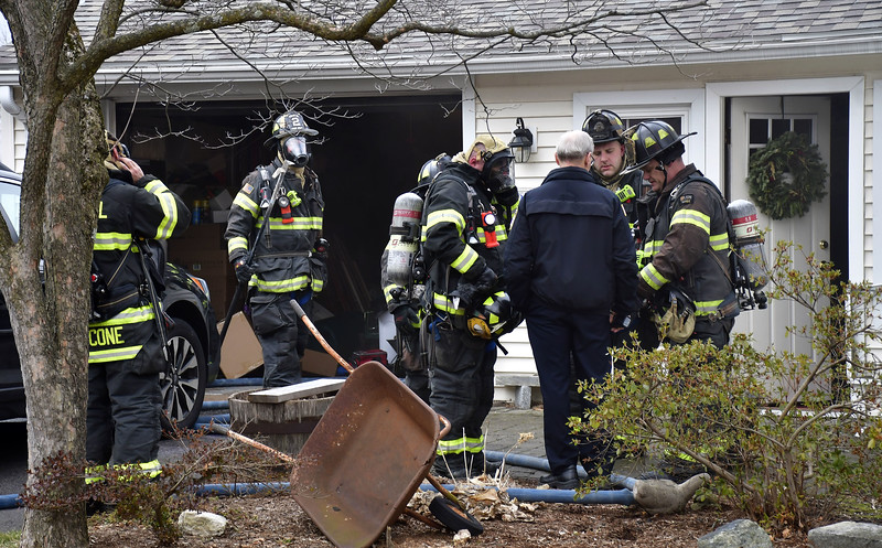1/10/2020 Mike Orazzi | Staff The scene of a fire on Clearview Avenue in Bristol. The home was rendered uninhabitable displacing two adults, a baby and four pets.
