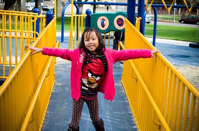 Mayfair Park with Eliana:  November 23, 2013