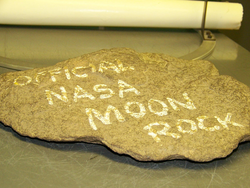 "Possibly the most ""un-offical"" moon rock in the building."