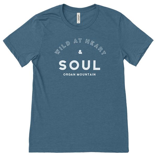 Organ Mountain Outfitters - Outdoor Apparel - Womens T-Shirt - Wild At Heart Tee - Heather Deep Teal.jpg