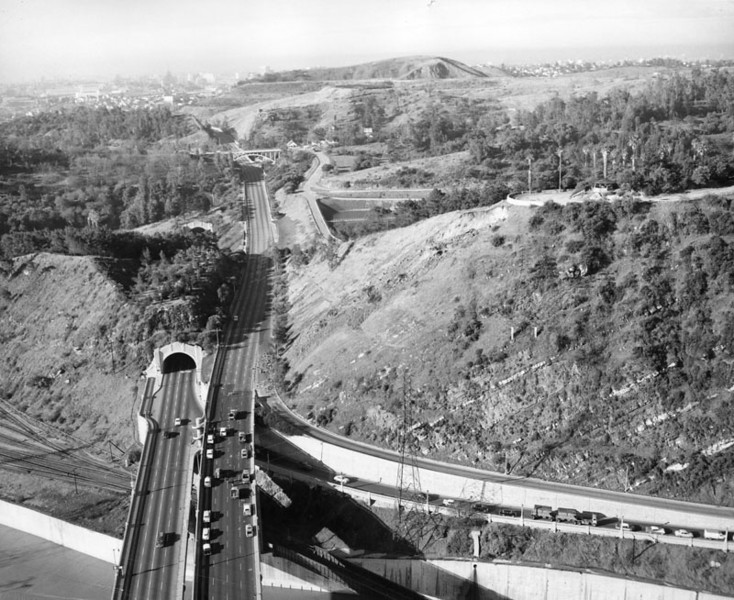 1958, Elysian Park and Arroyo Seco Parkway Aerial