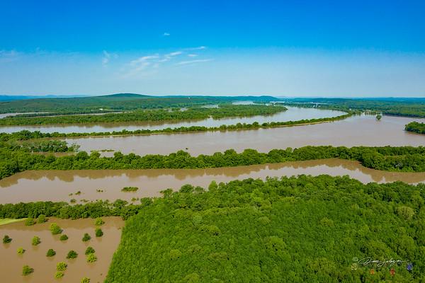 Arkansas River Flooding at Mayflower, 5/31/2019
