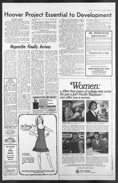 Daily Trojan, Vol. 58, No. 95, March 30, 1967