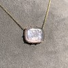 'INV My Letter' Pale Pink Glass Rebus Pendant, by Seal & Scribe 20