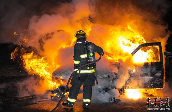 Detroit MI, Car Fire 4-2-2021
