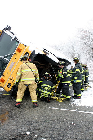 Budd Lake Fire Conducts Bus Extraction Drill