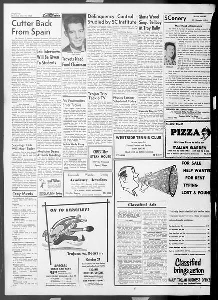 Daily Trojan, Vol. 45, No. 21, October 19, 1953