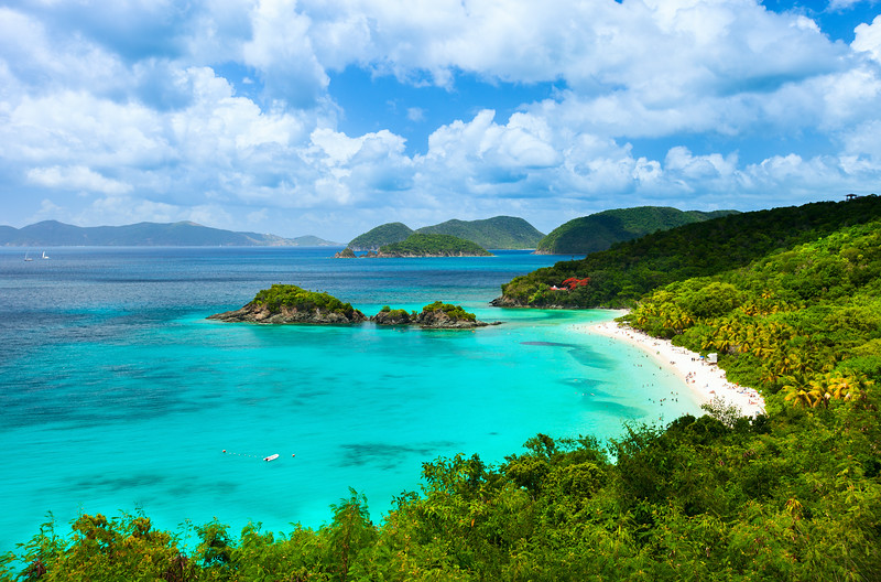 Trunk Bay, USVI - places to travel without a passport