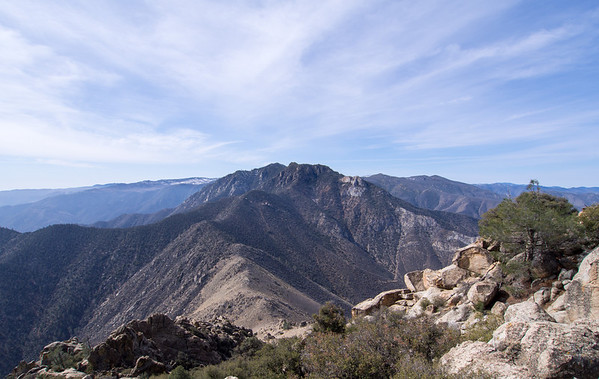 Nicolls and Heald Peaks in the Southern Sierra  3.28.14