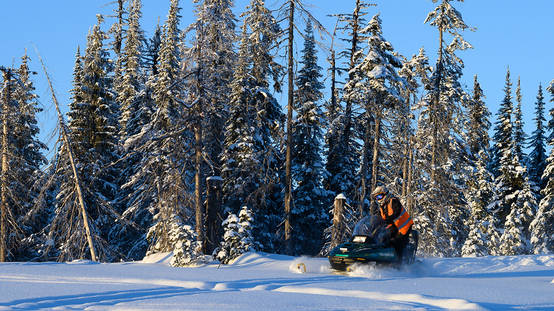 Snowmobiling around Sunpeaks Ski Resort