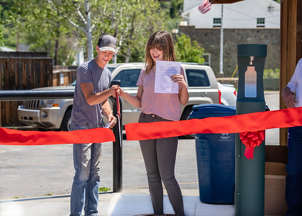 Water Bottle Filling Station Ribbon Cutting Ceremony