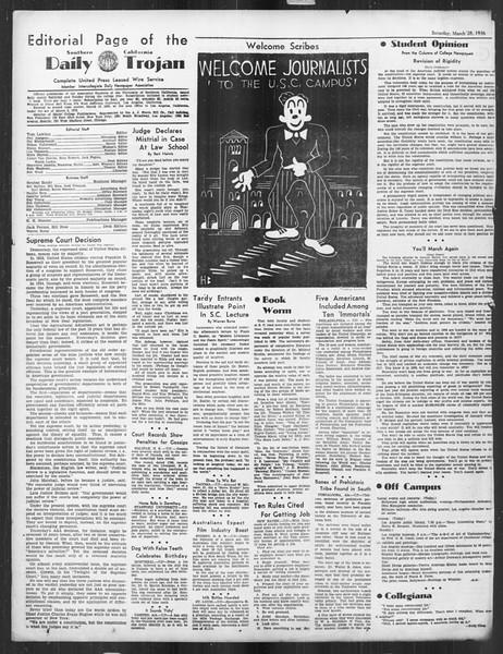 Daily Trojan, Vol. 27, No. 108-A, March 28, 1936