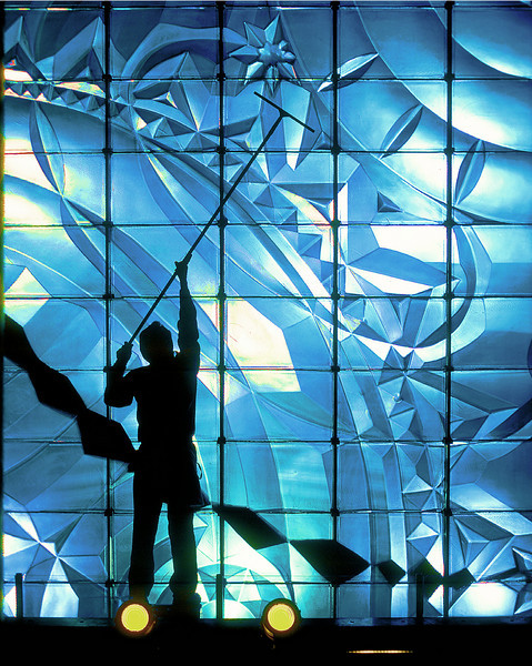 Glass Mural by Lee Laurie: Rockefeller Group Annual Report