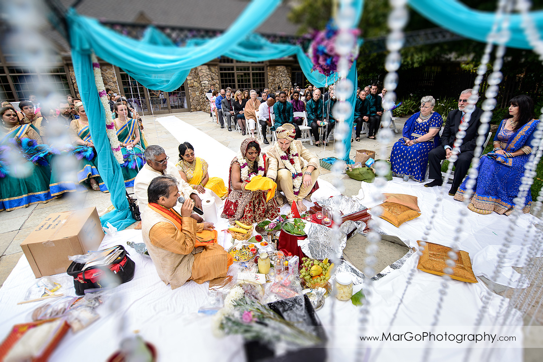 indian wedding ceremony at Brazilian Room - Tilden Regional Park, Berkeley
