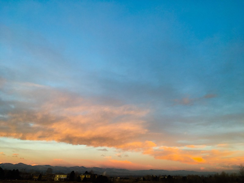 Doctored sunrise with the new iPhone 5SE