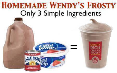 Homemade Wendy's Frosty