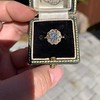 1.97ctw Antique Cluster Ring, GIA G SI2 45