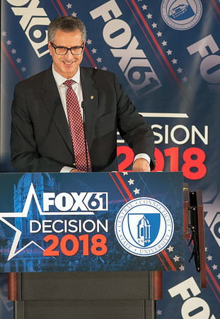10/17/18 Wesley Bunnell | Staff CCSU along with Fox 61 hosted a 5th Congressional District Debate on Wednesday evening with Democratic candidate Jahana Hayes and Republican candidate Manny Santos who are both vying for the seat being vacated by Elizabeth Esty. Republican candidate Manny Santos.
