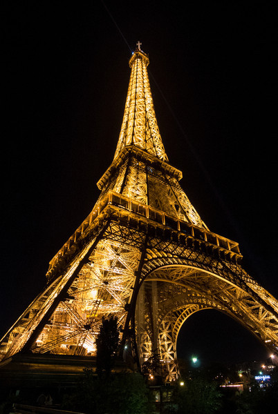After dinner it was an acscent of the Eiffel Tower