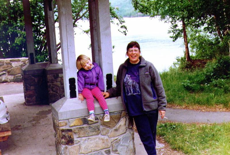 Alina & Connie, Hidden Lake, July 4th weekend 1995, .jpg