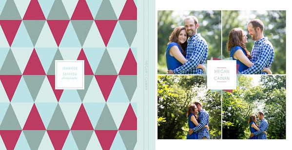 Megan and Cainan Engagement Book